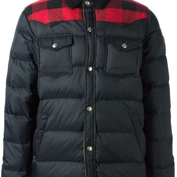 Penfield tartan panel padded jacket