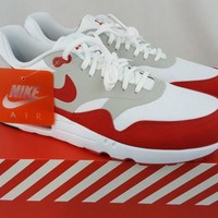 """Nike Air Max 1 Ultra 2.0 LE """"Air Max Day"""" 3.26 White Red 908091-100 Size 11"""