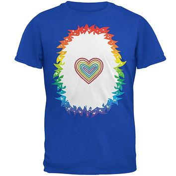 Halloween Rainbow Heart Unicorn Costume Pony Mens Soft T Shirt