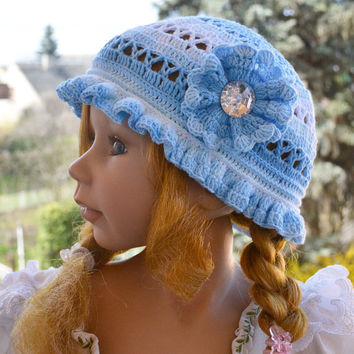 summer cap Hat COTTON  Cute Crochet Summer Hat aWeSomE Style tam romantic princess