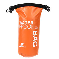 2L Ultralight Portable Outdoor Travel Rafting Waterproof Dry Bag Swim Storage Orange Floating Boating Kayaking Camping Equipment