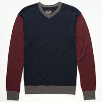 Retrofit Grenoble Mens Sweater Navy  In Sizes
