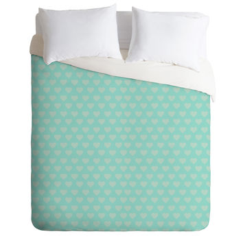 Allyson Johnson Blue Hearts Duvet Cover