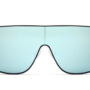 Quay #QUAYXKYLIE Unbothered Black / Mint Sunglasses