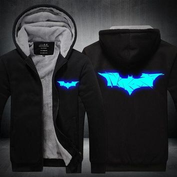 DCCKJN2 Boy's New Luminous BATMAN Hoodie Anime Jacket
