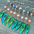 jewel beetle wing choose1 abalone amethyst  in beach summer moroccan belly dancer indie gypsy hippie morrocan boho and hipster style