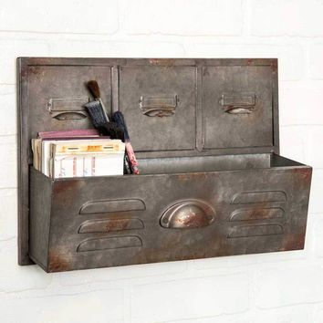 Industrial Filing Cabinet Galvanized Wall Caddy