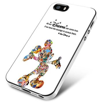 Walt Disney Quote Mickey Mouse Character iPhone 5 | 5S | 5SE Case Planetscase.com