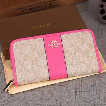 COACH Women Fashion Wallet Purse Clutch Bag Leather Tote Handbag-4