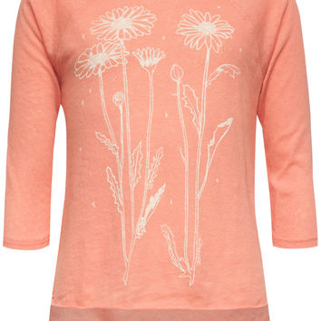 O'neill Floral Girls Baseball Tee Coral  In Sizes