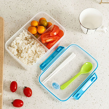 Lunch Box Large Capacity Containers with Compartments Lunch Box Food Container Storage about 1250ML send in random color
