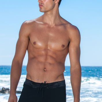Sauvage Swimwear Tuxedo Swimmer | Black Designer Swim Trunks