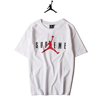 Jordan x Supreme Woman Men Fashion Tunic Shirt Top Blouse