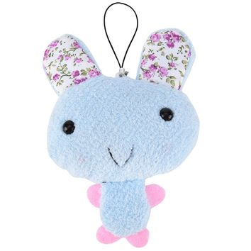 1 PC New Color Random  Kawaii  Cute Keychain Plush Stuffed Rabbit For Phone Decor Bags Parts Accessories