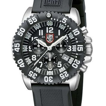Luminox Mens Navy Seal Steel Colormark Chrono - Black Dial - Polyurethane Strap