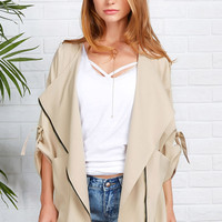 Cupshe Young And Beautiful Lapel Zip Coat