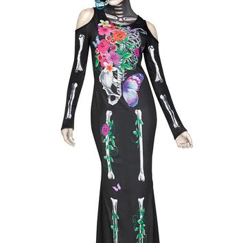 Chicloth Halloween Cosplay Beautiful Bones Dress Costume
