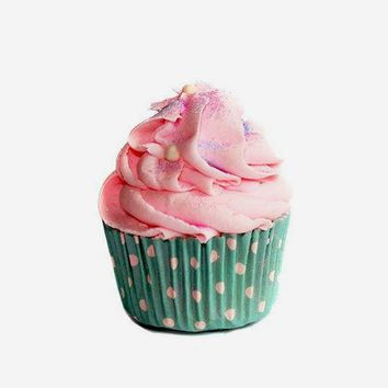 Cotton Candy Cupcake Bath Bomb