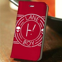 Twenty One Pilots Lane Boy custom wallet case for iphone 4,4s,5,5s,5c,6 and samsung galaxy s3,s4,s5