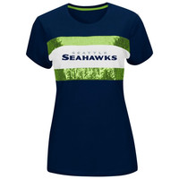 Seattle Seahawks Women's Touchdown Queen T-Shirt – College Navy
