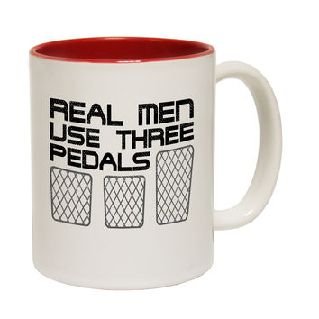 123t USA Real Men Use Three Pedals Funny Mug