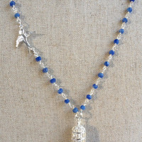 Sterling Silver and Sapphire Free Bird Necklace