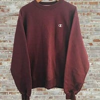 Champion Casual Long Sleeve Plus Velvet Top Sweater Pullover