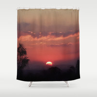 Sweet Pink Orange Sunset Shower Curtain by Webgrrl | Society6