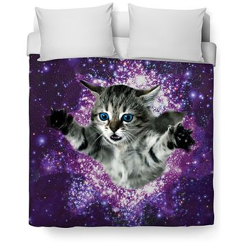 Kitty Glitter Duvet Cover