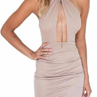 Keyhole Bandage Mini Dress
