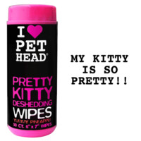 Pretty Kitty Deshedding Wipes 50ct | Pet Head