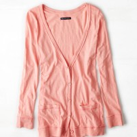 AEO Boyfriend Cardigan, Poetic Pink | American Eagle Outfitters