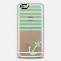 Mint Nautical Transparent iPhone 6 case by Organic Saturation | Casetify