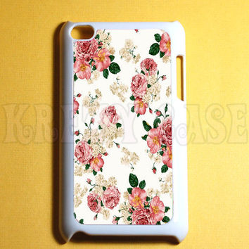 Ipod Touch 4 Case -  Vintage Flower Ipod 4G Touch Case, 4th Gen Ipod Touch Cases