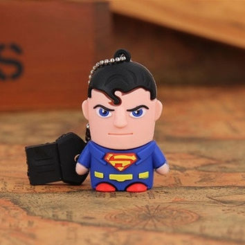 American film classic characters superman USB flash drive  8GB 16GB 32GB Memory Stick Pen Drive for gifts = 1946766852