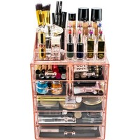 Makeup Storage Organizer, Medium, Set 1, Pink - Walmart.com