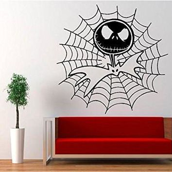 Jack Skellington Cobweb - Nightmare Before Christmas Decal Sticker for Window Wall Room Car