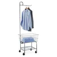 Chrome Laundry Center w/ Basket, Laundry Hampers