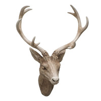 Deer Stag Head Resin Wall Statue