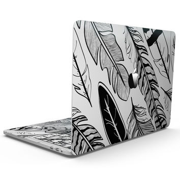 Vector Black and White Feathers - MacBook Pro with Touch Bar Skin Kit