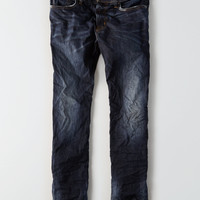 AEO Extreme Flex Slim Straight Jean, Dark Vintage Wash