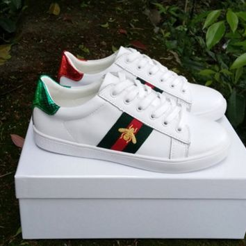Gucci Ace embroidered low-top sneaker A variety of elemental styles Shoes Bee B