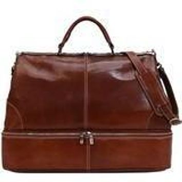 Positano Grande Overnight Leather Bag