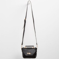 Bow Lock Top Handle Crossbody Bag Black One Size For Women 25121410001