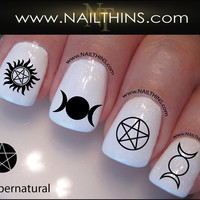 Supernatural Nail Decal Set 3 Nail Designs NAILTHINS Nail art design