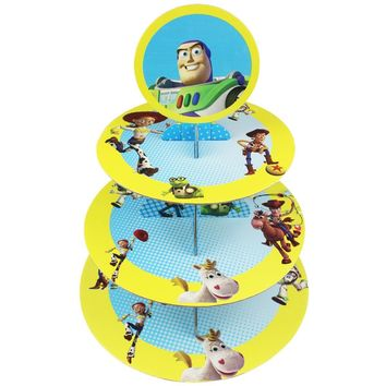 Betop House 3-Tire Toy Story Themed Party Cupcake Dessert Stand