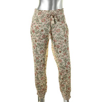 Denim & Supply Ralph Lauren Womens Crinkled Floral Print Jogger Pants