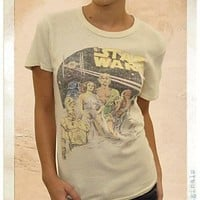 Junk Food Star Wars Character Mash-Up Juniors Almond Solid T-shirt - Star Wars - | TV Store Online