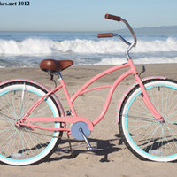 "sixthreezero LIMITED EDITION Paisley Single Speed, Coral Pink - Women's 26"" Beach Cruiser Bike, Buy sixthreezero LIMITED EDITION Paisley Single Speed, Coral Pink - Women's 26"" Beach Cruiser Bike"