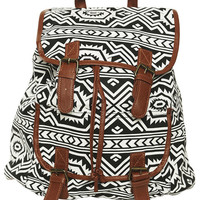 Black and White Tribal Backpack - WetSeal